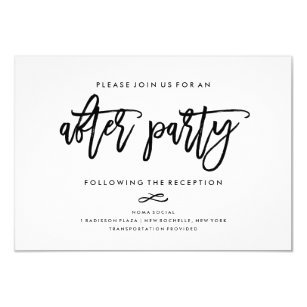 After wedding invitations zazzle chic hand lettered wedding after party invitation stopboris Image collections