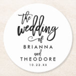 "Chic Hand Lettered Wedding Coaster<br><div class=""desc""></div>"