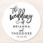 "Chic Hand Lettered Wedding Coaster<br><div class=""desc""></div>"