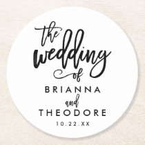 Chic Hand Lettered Wedding Coaster