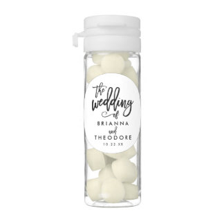 Chic Hand Lettered Wedding Favors Chewing Gum