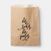 Chic Hand Lettered Wedding For Richer, For Poorer Favor Bag