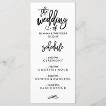 Chic Hand Lettered Wedding Menu