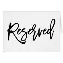 Chic Hand Lettered Wedding Reserved Sign Folded