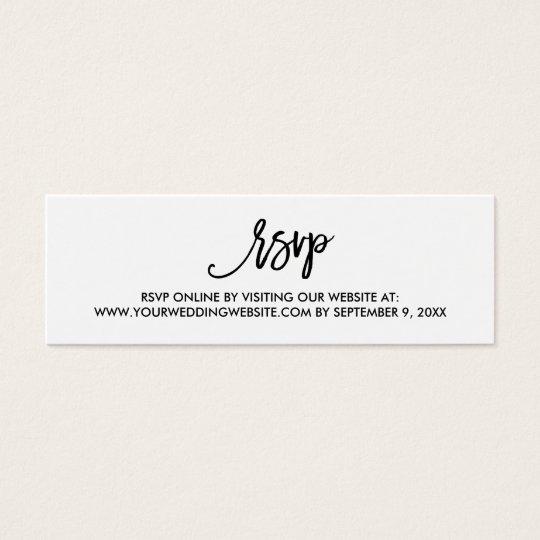 Chic Hand Lettered Wedding Rsvp Online Card Zazzle Com
