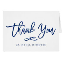 Chic Hand Lettered Wedding Thank You Card