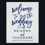 "Chic Hand Lettered Wedding Welcome Sign<br><div class=""desc"">Personalized welcome wedding sign with names and hashtag</div>"