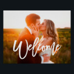 "Chic Hand Lettered Welcome Photo Poster<br><div class=""desc"">Welcome your guests with a poster showcasing your favorite photo.</div>"