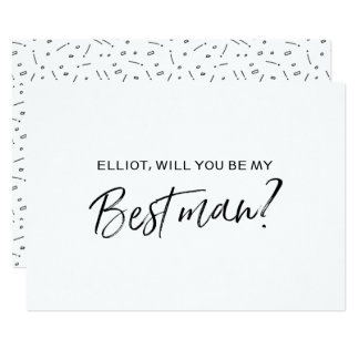 """Chic Hand lettered """"Will you be my best man"""" Card"""