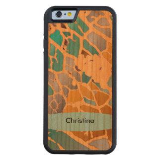 Chic Handmade Custom Sunny Yellow Teal Mint Aqua Carved® Cherry iPhone 6 Bumper Case