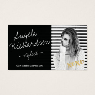 Fashion business cards 21200 fashion business card templates chic handwritten fashion stylist actor model photo business card flashek Image collections