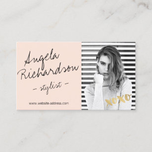 Model business cards zazzle chic handwritten fashion stylist actor model photo business card colourmoves