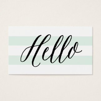 Chic Hello | Business Cards