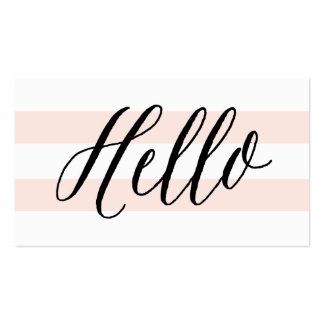 Chic Hello   Business Cards