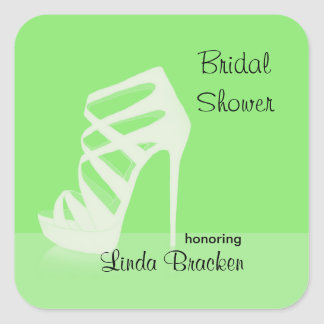 Chic High Heels Bridal Shower Favor Sticker