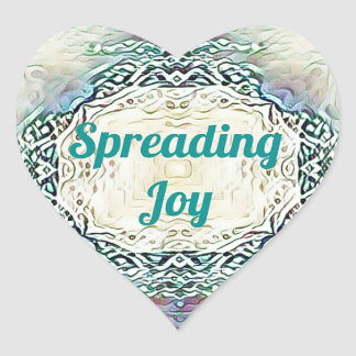 Chic Holiday Season Green 'Spreading Joy' Heart Sticker