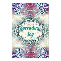Chic Holiday Season Green 'Spreading Joy' Stationery