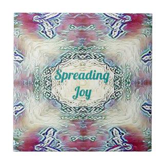 Chic Holiday Season Green 'Spreading Joy' Tile