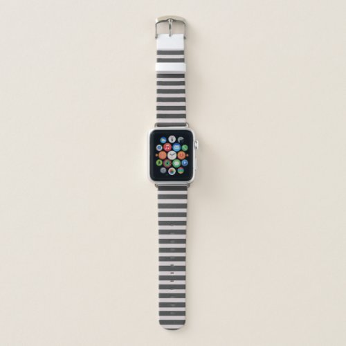 Chic Horizontal Gray Striped – Apple Watch Band