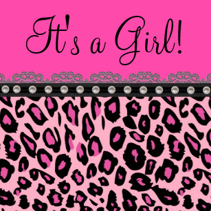 Pink and leopard baby shower invitations leopard image hd animal print border wallpaper cheetah wallpapers leopard zebra for chic hot pink leopard baby shower invitation filmwisefo