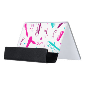 Chic Hues Beauty Tools Salon Business Card Holder