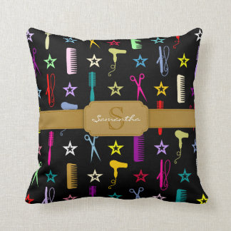 Chic Hues Hair Tools Custom Monogram Pillow Pillow
