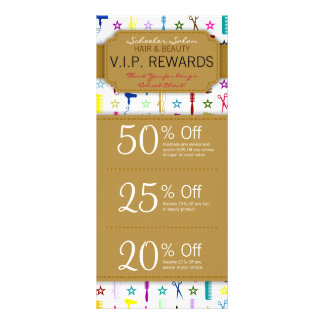 Chic Hues Multicolor Custom Salon Coupons Specials Rack Card