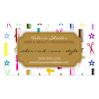 Chic Hues Multicolor Hair Beauty Appointment Card Double-Sided Standard Business Cards (Pack Of 100)