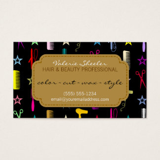 Chic Hues Multicolor Hair & Beauty Coupon Discount Business Card