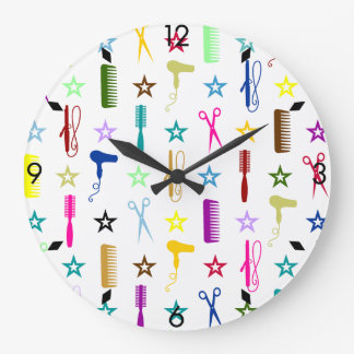 Chic Hues Multicolor on White Wall Clock
