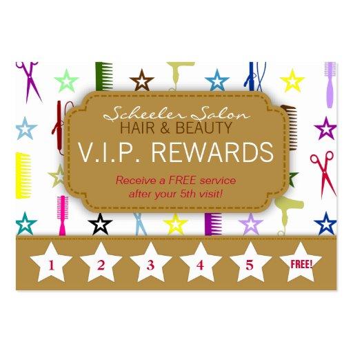 Loyalty card business card templates page8 bizcardstudio chic hues multicolor salon loyalty rewards card business card template colourmoves Images