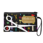 Chic Hues with White Hair Shears Custom Wristlet Clutches