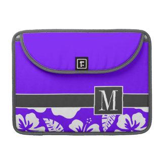 Chic Indigo, Purple Hawaiian Tropical Hibiscus Sleeves For MacBook Pro