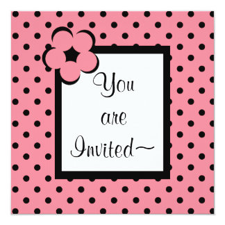 CHIC INVITATION_29 PINK /BLACK CARD