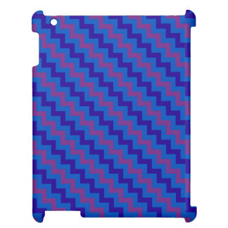 Chic iPad Savvy Case, Plum, Blue and Navy Chevrons Cover For The iPad 2 3 4