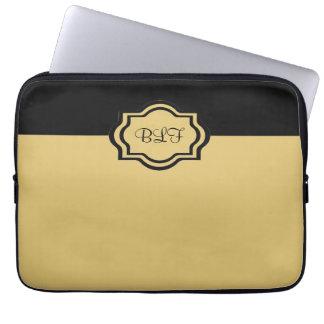 chic ipad sleeve, kakki/with monogram computer sleeve
