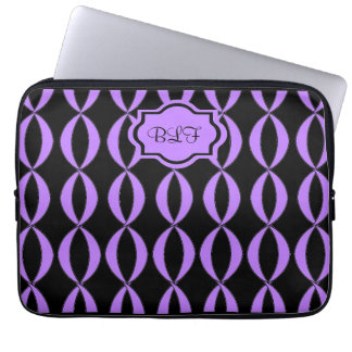 chic ipad sleeve, [purple ribb/ons/black /monogram computer sleeves
