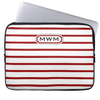 CHIC IPAD SLEEVE_RED/WHITE STRIPES LAPTOP SLEEVES