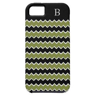 CHIC IPHONE5 CASE _270 GREEN/BLACK STRIPES iPhone 5 CASE