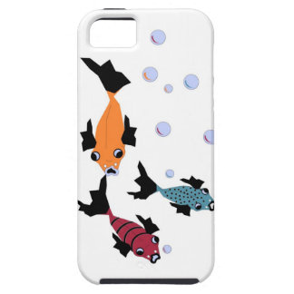 CHIC IPHONE5 CASE _3 SWIMMING FISH ON WHITE