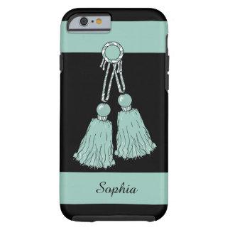 CHIC IPHONE6/6S CASE_AQUA TASSELS/STRIPES TOUGH iPhone 6 CASE