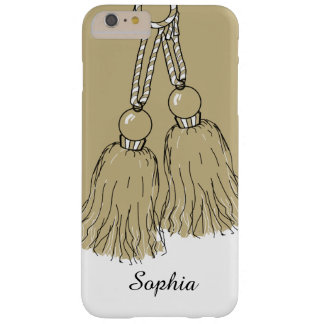 CHIC IPHONE6/6S CASE_KHAKI TASSELS/WHITE BARELY THERE iPhone 6 PLUS CASE