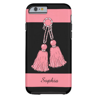 CHIC IPHONE6/6S CASE_PINK TASSELS/STRIPES TOUGH iPhone 6 CASE