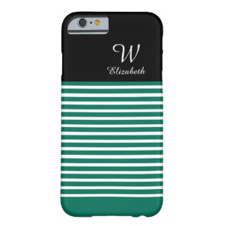 CHIC IPHONE6 CASE_128 KELLY GREEN/WHITE STRIPES BARELY THERE iPhone 6 CASE