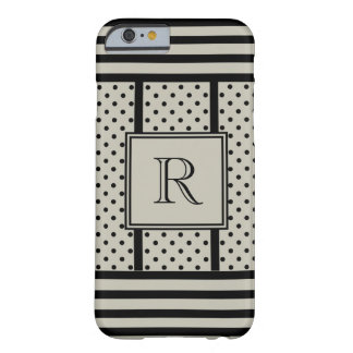 CHIC IPHONE6 CASE_BLACK DOTS/STRIPES ON 547 STONE BARELY THERE iPhone 6 CASE