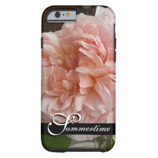 "CHIC IPHONE6 CASE_""Summertime"" PEACH ROSES Tough iPhone 6 Case"
