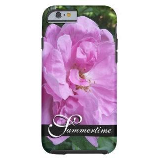 "CHIC IPHONE6 CASE_""Summertime"" PINK GARDEN ROSE Tough iPhone 6 Case"