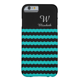 CHIC IPHONE6 CASE_TURQUOISE.BLACK SCOLLOPS BARELY THERE iPhone 6 CASE
