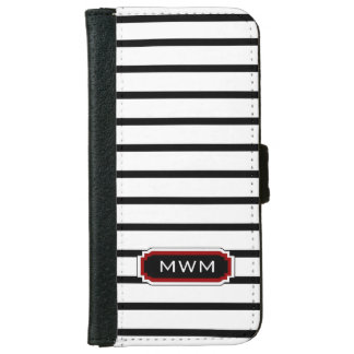 CHIC IPHONE6 WALLET CASE_BLACK/WHITE/16 RED