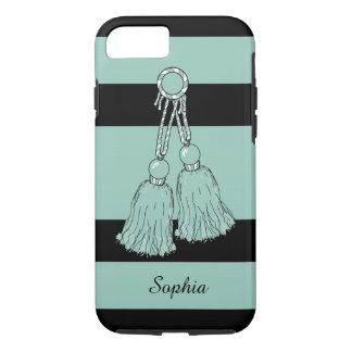 CHIC iPhone 7 CASE_AQUA TASSELS/STRIPES iPhone 7 Case